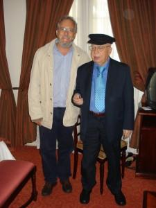 Con el poeta Gonzalo Rojas