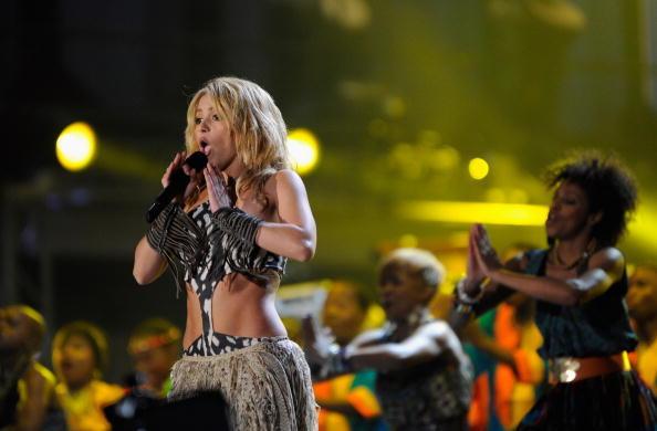 Shakira en Innauguracion del mundial con el Waka Waka