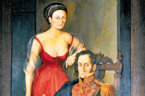 Manuelita Sáenz y Simón Bolívar. Foto: Daniel Gómez - El Espectador