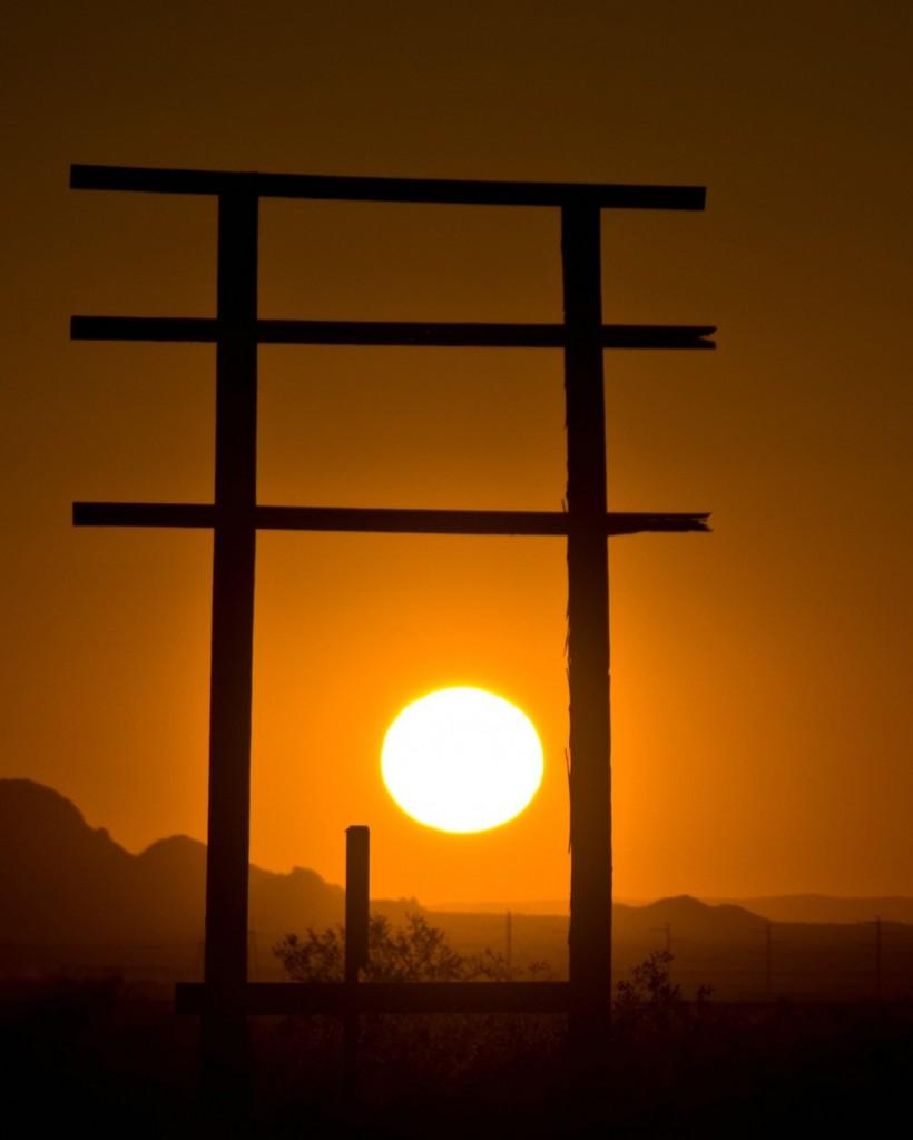 Sun setting in the sonoran desert, Flicr, Tony the Misfit (Back Soon)