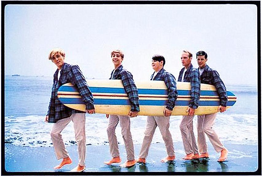 The Beach Boys. Brian Wilson en la mitad.