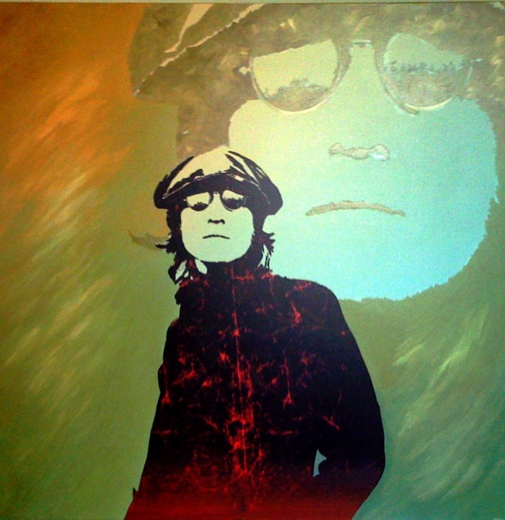 John Lennon Painting, Flickr, CJ Song