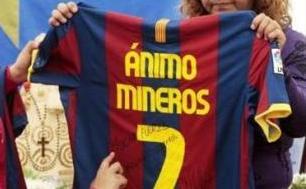 Camiseta enviada por el delantero español David Villa