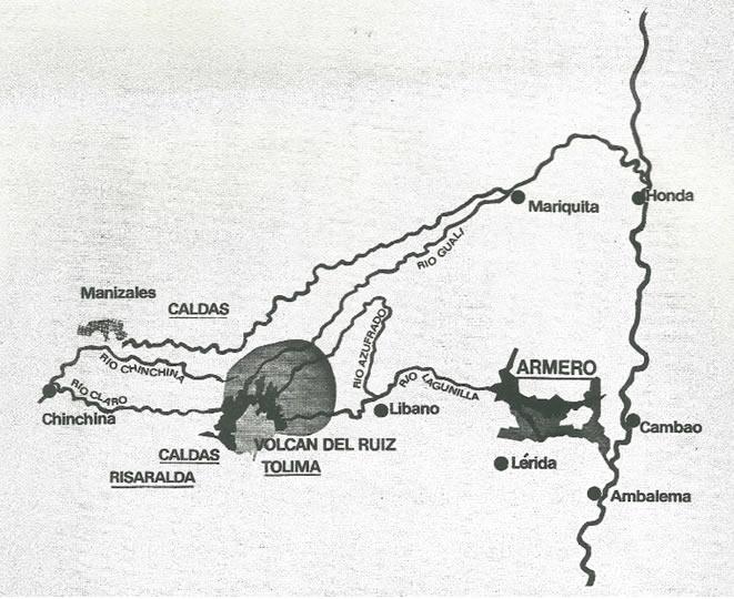 Armero Mapa