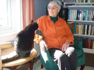 Lady Kate con su gata asmática
