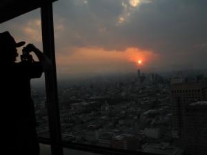 Puesta del sol en México D. F. (Fotografía: Claudia Arias)