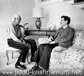 Jiddu Krishnamurti y David Bohm (fotografía: http://www.jiddu-krishnamurti.net)