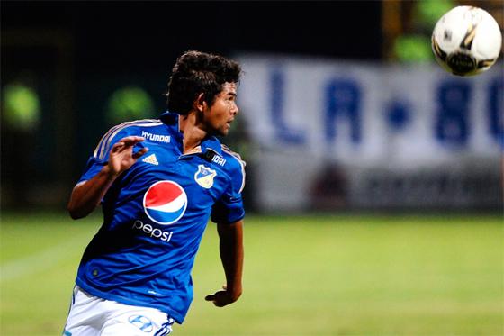 El delantero de Millonarios, Humberto Osorio Botello / Foto: David Campuzano
