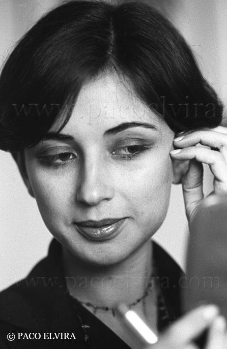 Pilar del Río en 1977 -- Foto de Paco Elvira, tomada de aquí: http://www.pacoelvira.com/2010/06/pilar-del-rio-y-jose-saramago.html