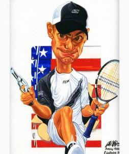 Caricatura de Anddy Roddick.
