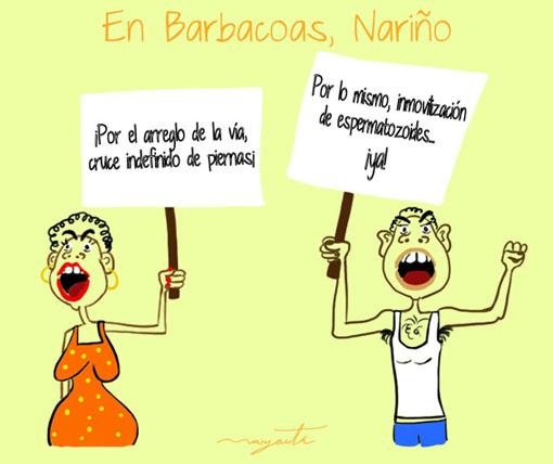 Caricatura de Margarita Molano