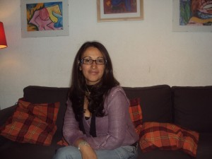 María Nancy valencia, refugiada en España.
