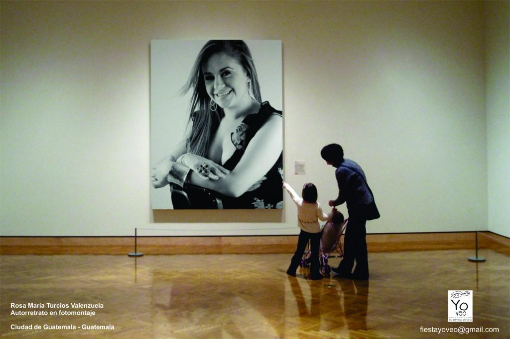 Autorretrato en fotomontaje de la guatemalteca Rosa María Turcios.