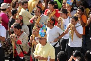Desfile del Carnaval de los abrazos.