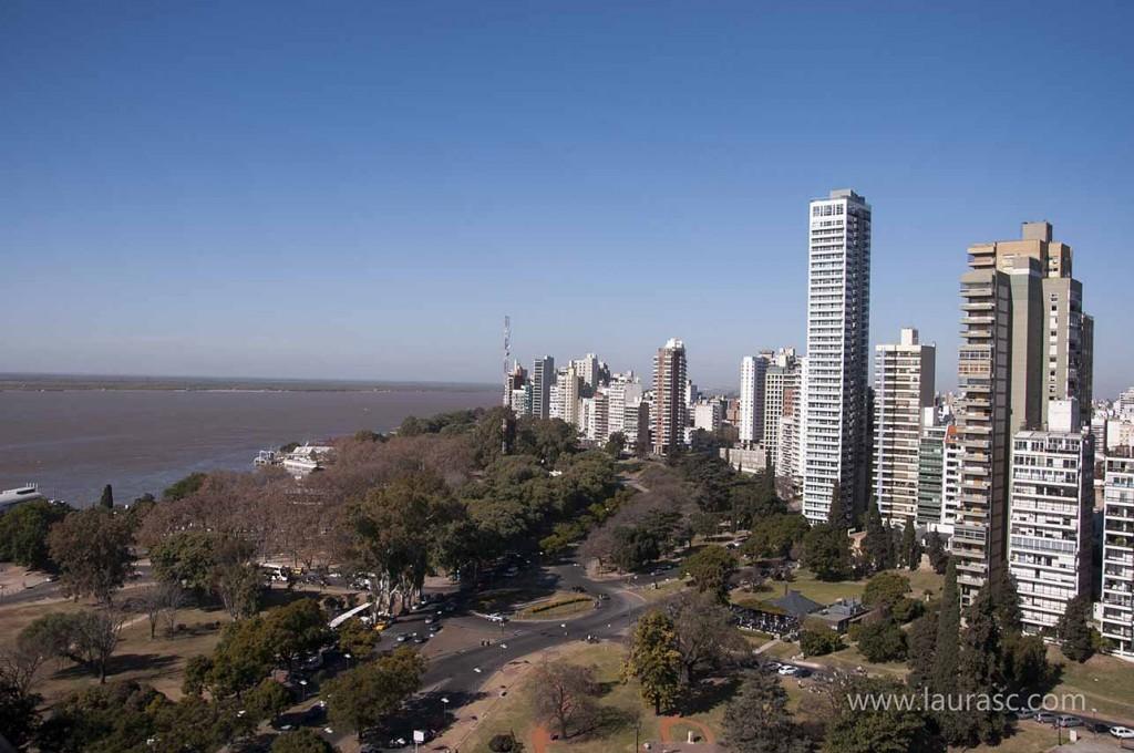 Vista de la ciudad Rosario - foto: Laura Schneider