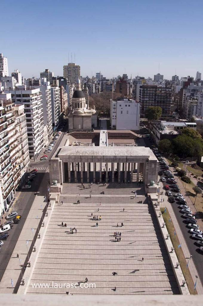 Vista de la ciudad desde el Monumento a la Bandera - foto: Laura Schneider