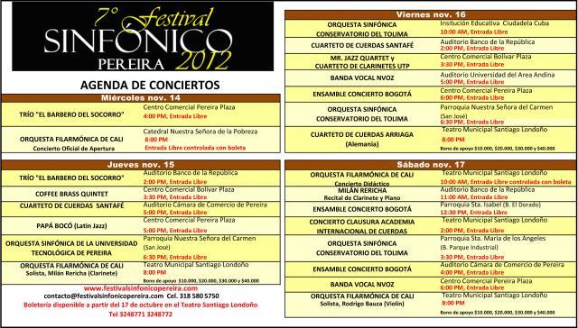 Agenda de conciertos