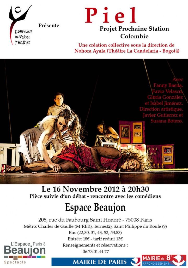 Affiche de la obra Piel en París.