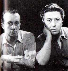 André Breton y Paul Éluard, sin fecha. Fotografía de Man Ray