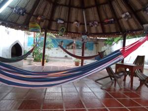 The patio in hostel The Gypsy Residence, Aracataca