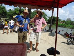 The party beach in Aracataca. Hostel The Gypsy Residence