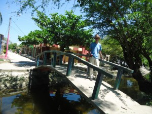 A bridge over the little canal (built by the United Fruit Company) in Aracataca