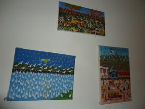 Art in the hostel The Gypsy Residence, Aracataca