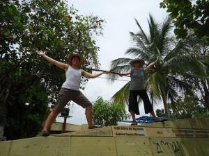 Monument to GGM, in Aracataca. Hostel The Gypsy Residence
