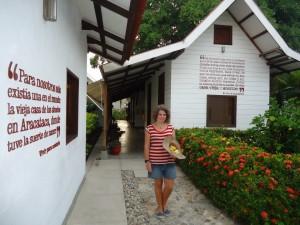 The birthhouse of Gabo in Aracataca. Hostel The Gypsy Residence
