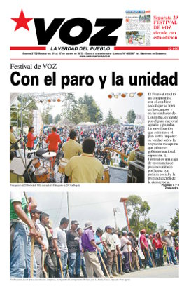 portada periodico voz agosto 2013 paro agrario