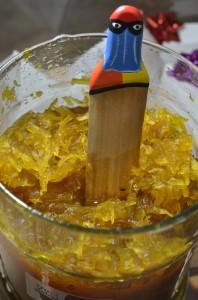Dulce tradicional de papaya verde y piña