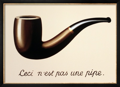 """""""Esto no es una pipa"""" - René Magritte"""