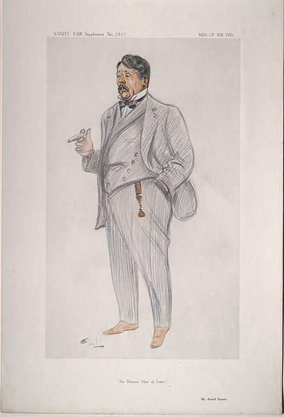 Arnold Bennett en una caricatura de Vanity Fair en 1913.