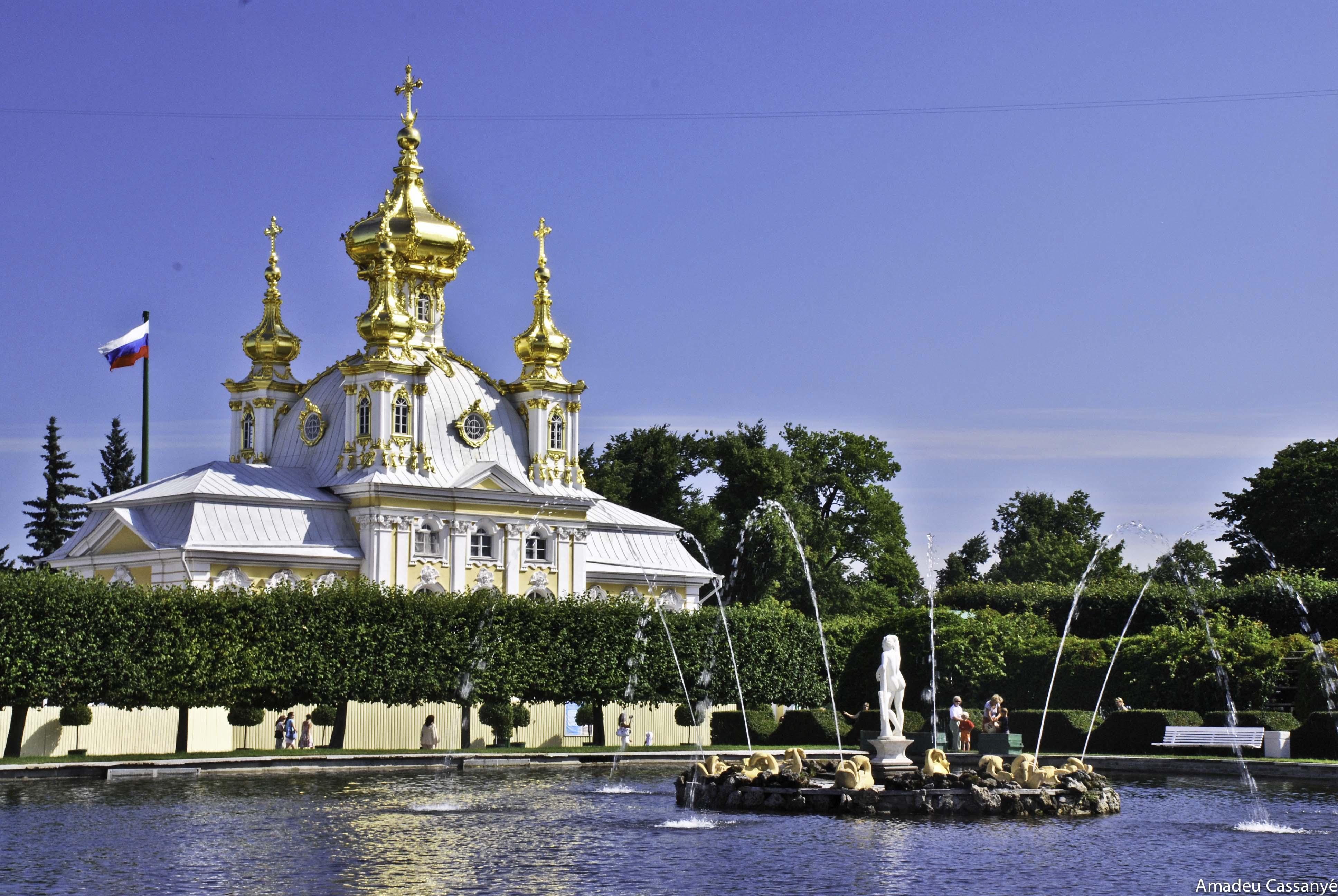 jardines de Peterhof en Petrodvorets