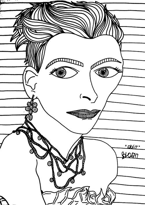Tilda Swinton. Obra de Maria A. Paez