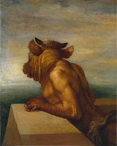 """""""El minotauro"""", George F. Watts,  1885"""