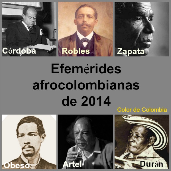 Collage Efemérides Afrocolombianas 2014 b