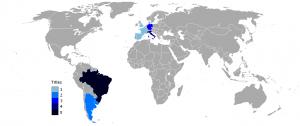 Ganadores de la Copa Mundo de Fútbol