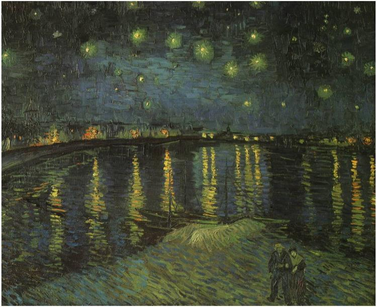 Noche estrellada sobre el Ródano - Vincent Van Gogh