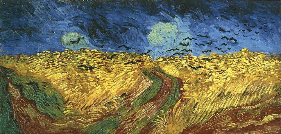 Trigal con cuervos - Vincent Van Gogh