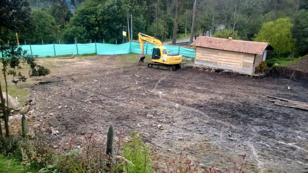 La obra se construye en el kilómetro 12,5 de la vía que de Bogotá conduce al municipio de La Calera. / Foto: Amigos de la Montaña