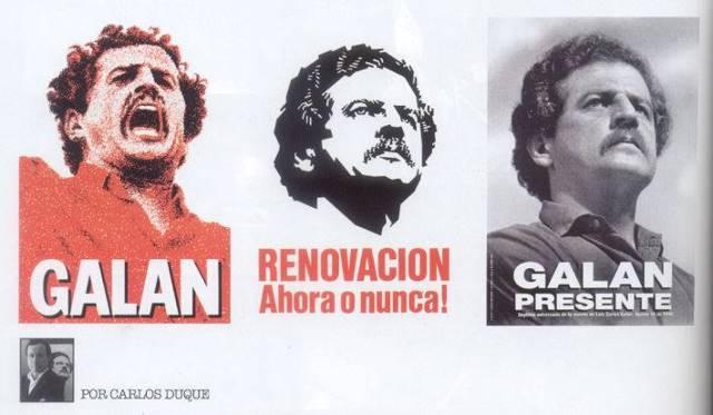 Afiches Luis Carlos Galán
