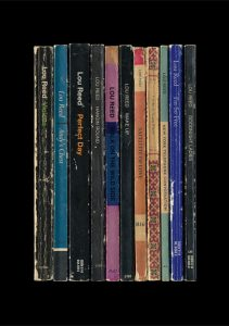 'Lou Reed's album 'Transformer' as a collection of books.'