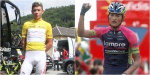 Miguel López (izq) y Winner Anacona, flamantes ciclistas colombianos.
