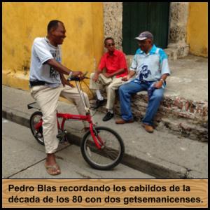 El Poeta Pedro Blas Julio recordando los cabildos de la década de los 80 con dos getsemanicenses.