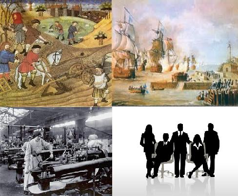 Desde una economía basada en recursos naturales, en mercancías exóticas hasta una industrial. El motor de la economía es el talento humano.