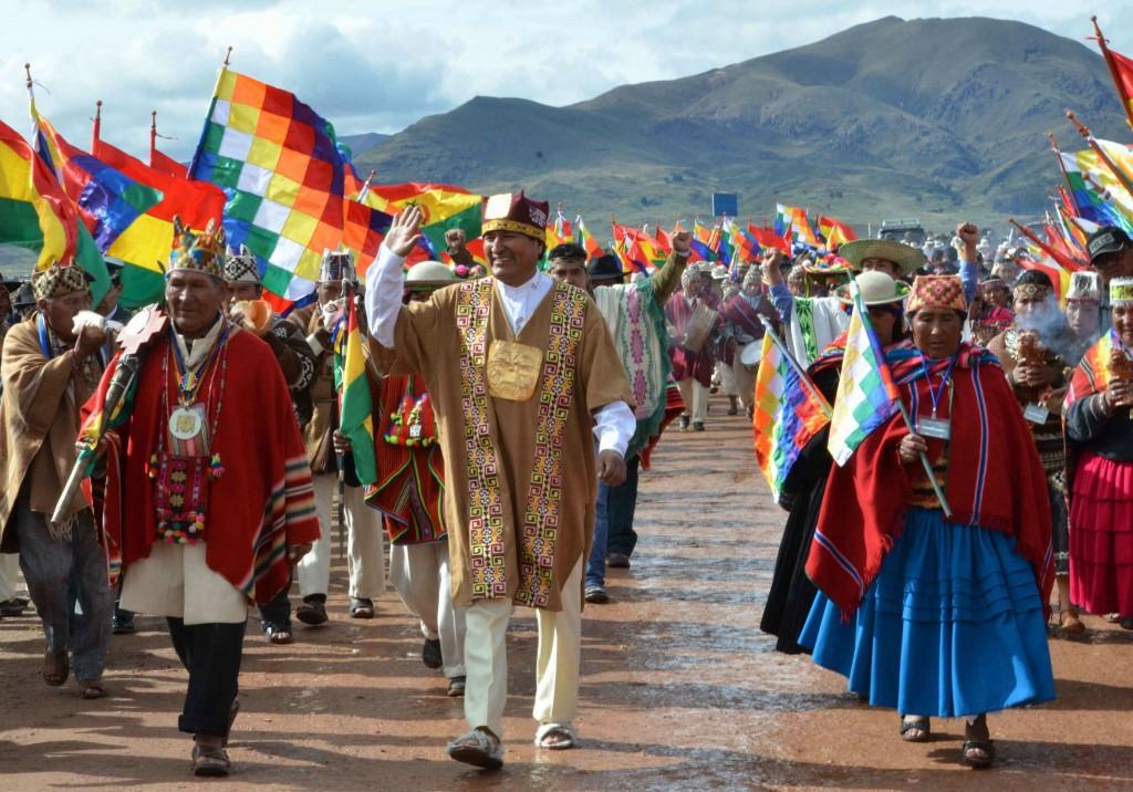 evo afp ritual e tiwanaku la paz-1