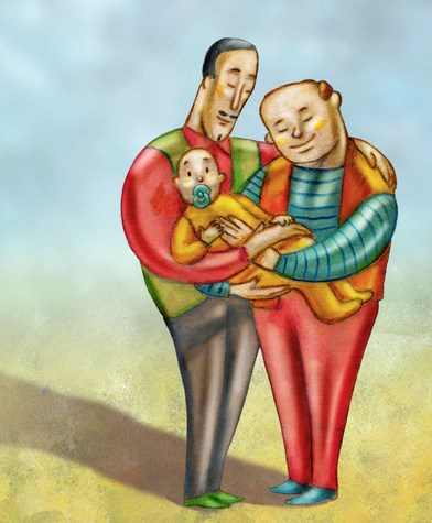 Modern family --- Image by © Alberto Ruggieri/Illustration Works/Corbis