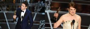 Eddy Redmayne y Jualianne Moore se alzaron con el Oscar en la categoría de actor y actriz principal.