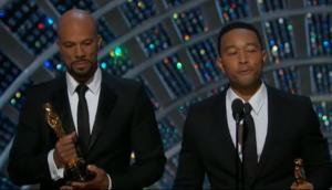 Common y John Legend levantaron aplausos en su discurso.